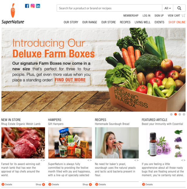 super nature online grocery store