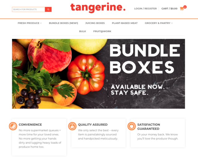 tangy tangerines online grocery store
