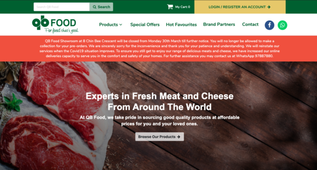 QB Food online grocery store
