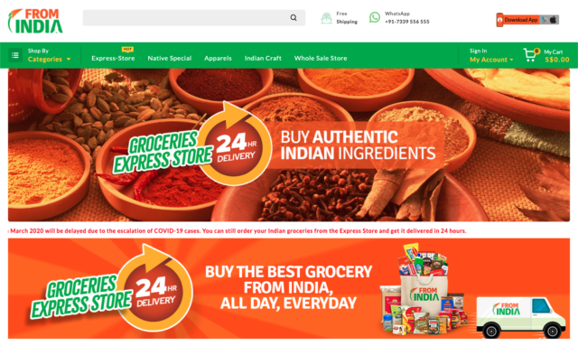 online indian grocery store