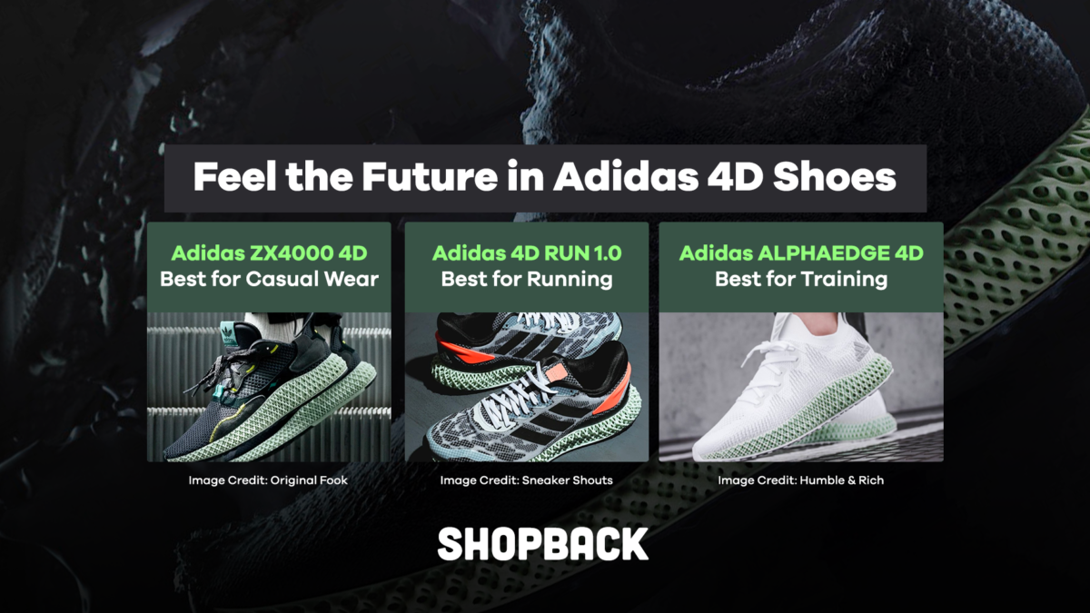 Feel the Future in the Latest 4D Shoes from Adidas (Plus Up to 17% Cashback!)