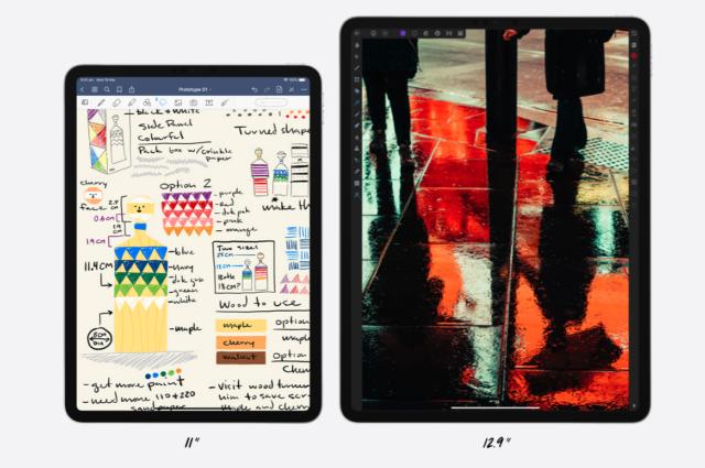 apple ipad pro 2020 different sizes