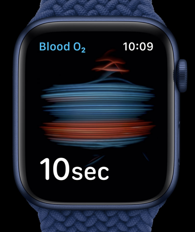 Apple Watch Series 6 Blood Oxygen function