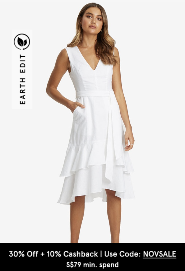 willa rachel linen midi dress cooling fabric