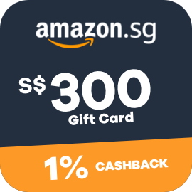 $300 Amazon Gift Cards + 1% Cashback