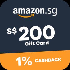 $200 Amazon Gift Cards + 1% Cashback