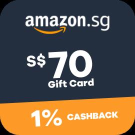 $70 Amazon Gift Cards + 1% Cashback