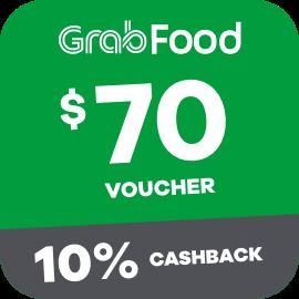 $70 Grabfood Voucher + 10% Cashback