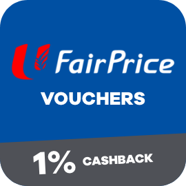 Earn 1% Cashback when you purchase a Fairprice Voucher from ShopBack