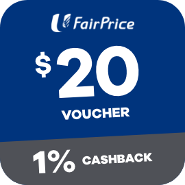 Earn 1% Cashback when you purchase a $20 Fairprice Voucher with ShopBack