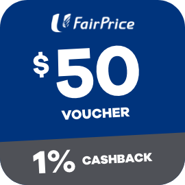 Earn 1% Cashback when you purchase a $50 Fairprice Voucher with ShopBack