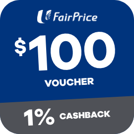 Earn 1% Cashback when you purchase a $100 Fairprice Voucher with ShopBack