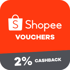 Earn 2% Cashback when you purchase a Shopee voucher with ShopBack
