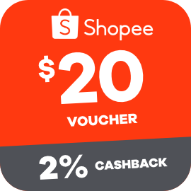 Earn 2% Cashback when you purchase a $20 Shopee voucher with ShopBack