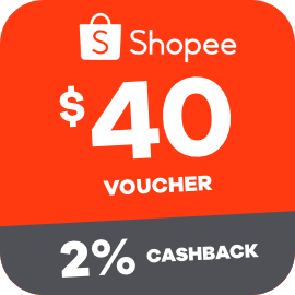 Earn 2% Cashback when you purchase a $40 Shopee voucher with ShopBack