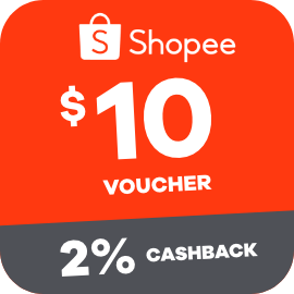Earn 2% Cashback when you purchase a $10 Shopee voucher with ShopBack