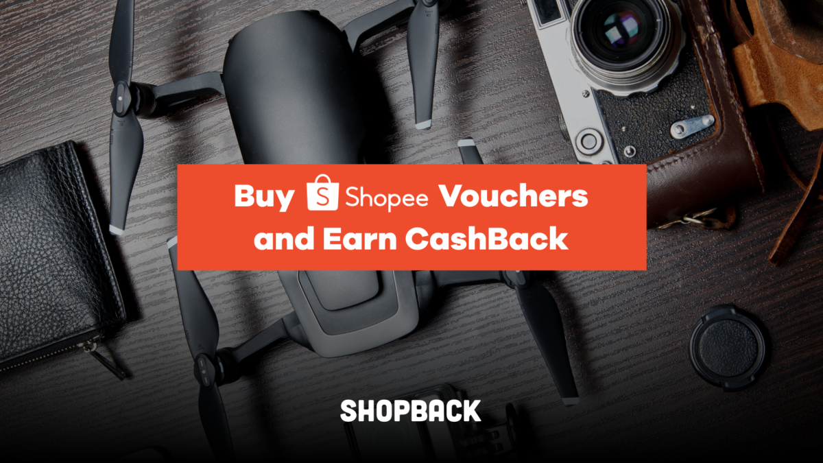 Shopee Vouchers – Get Cashback with ShopBack on Vouchers or Gift Cards