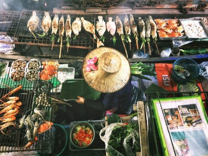 แพกาญจนบุรี ที่เที่ยวใกล้กรุงเทพฯ ตลาดน้ำ