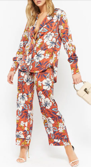 เทรนด์เสื้อผ้าผู้หญิง Floral High-Low Shirt