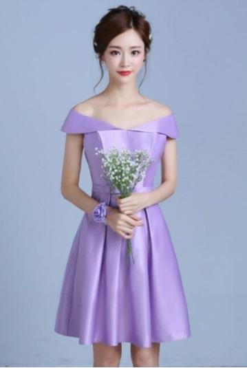 ชุดออกงาน สีม่วง ultra violet