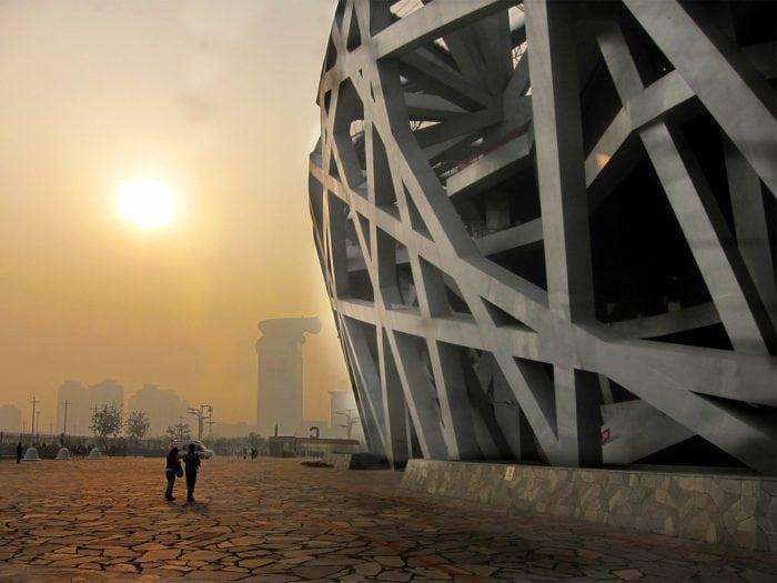 กำแพงเมืองจีน Bird s Nest Stadium
