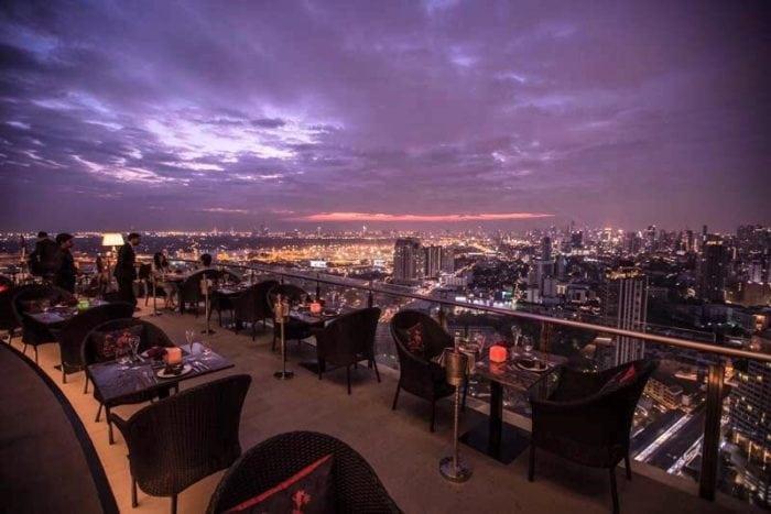 ร้านอาหารบนดาดฟ้า Ceilo Sky Bar & Restaurant