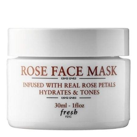 ดูแลผิวหน้าร้อน rose face mask