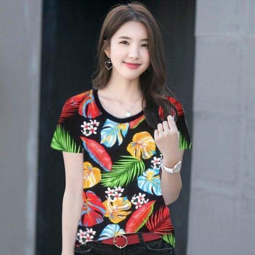 เสื้อผู้หญิงสวยๆ ลายฮาวาย