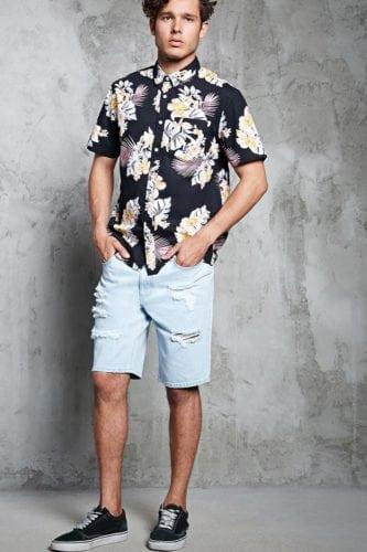 เสื้อลายดอกสงกรานต์ Forever21 เสื้อลายดอก ชุดฮาวาย เสื้อสงกรานต์ เสื้อลายดอกสงกรานต์