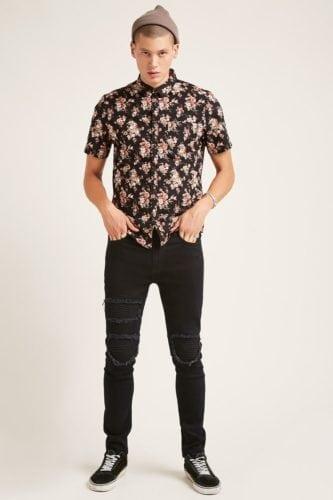 เสื้อลายดอกสงกรานต์ Forever21 ผู้ชาย เสื้อลายดอก ชุดฮาวาย เสื้อสงกรานต์ เสื้อลายดอกสงกรานต์