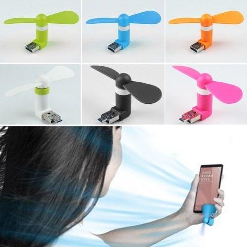 Travel Gadgets iBelieve OTG Mini USB Fan พัดลมมือถือสำหรับแอนดรอยด์