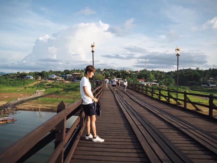 กาญจนบุรี สังขละบุรี สะพานไม้มอญ
