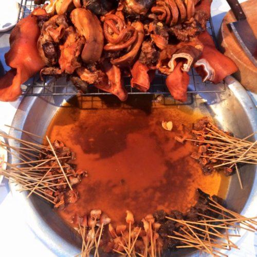 กาญจนบุรี สังขละบุรี ของกินตลาดนัดสังขละ