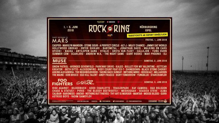 เทศกาลดนตรี 2018 Rock Am Ring 2018