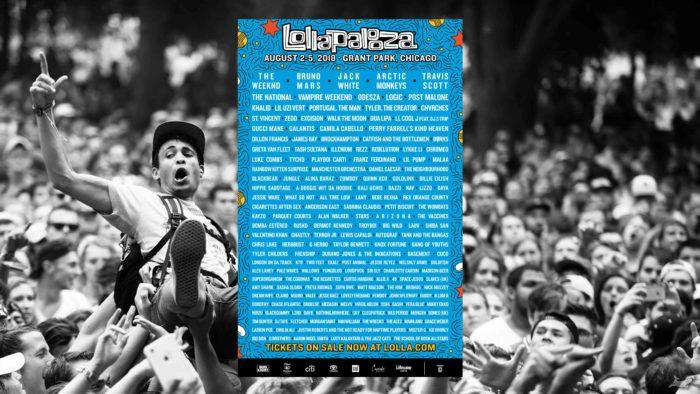 เทศกาลดนตรี 2018 Lollapalooza 2018