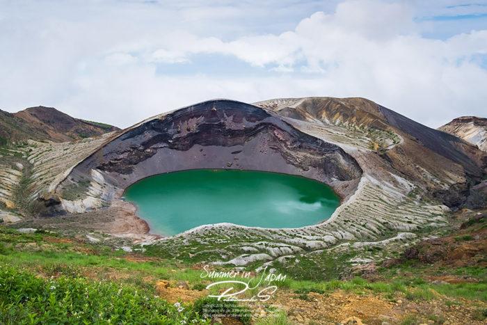 เที่ยวญี่ปุ่นหน้าร้อน Okama Crater 1