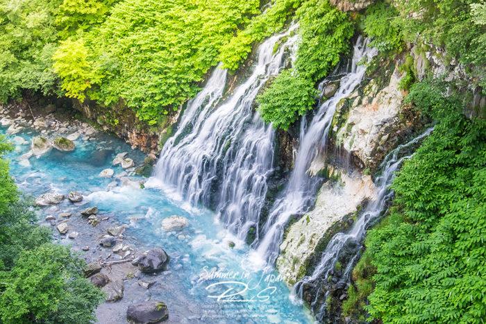 เที่ยวญี่ปุ่นหน้าร้อน Shirahige Falls