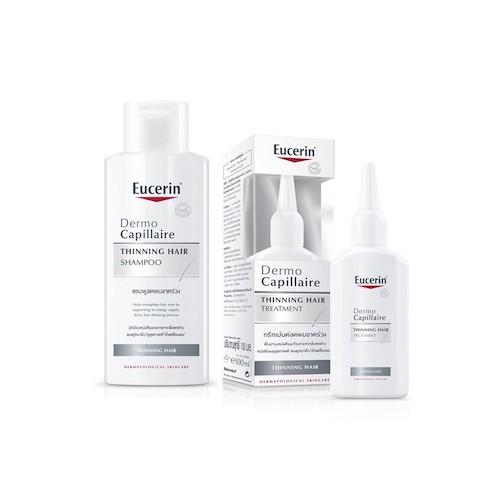 ผมร่วงทำไงดี Eucerin Dermo Capillaire Re-Vitalizing Shampoo Thinning Hair