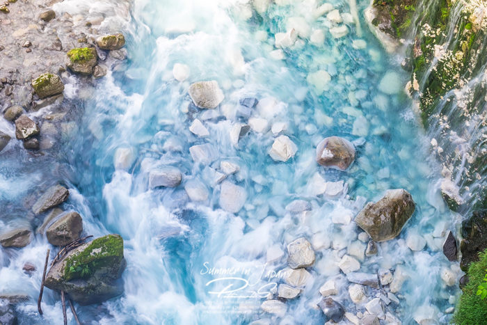 เที่ยวญี่ปุ่นหน้าร้อน ลำธาร Shirahige Falls
