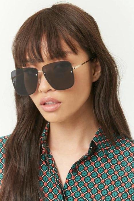 แว่นกันแดดผู้หญิง แว่นกันแดดทรง Square 2