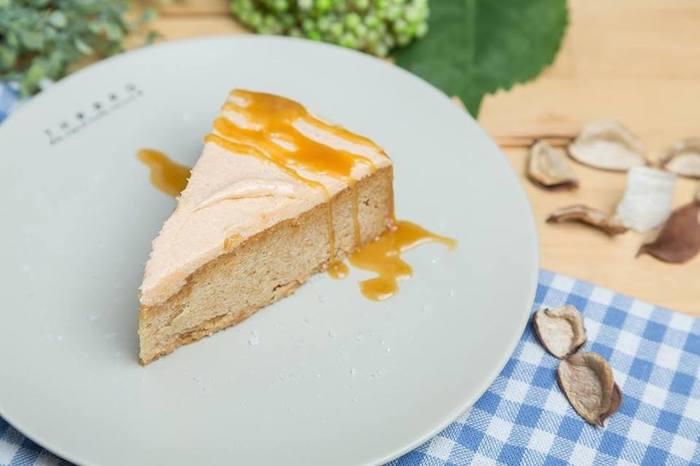 เค้กเพื่อสุขภาพ ธีรา Pumpkin Pie with Caramelized Apple & Caramel Sauce