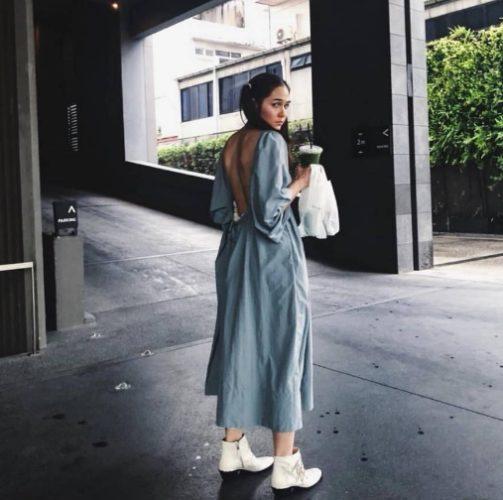 รองเท้าบูธกันฝน White Ankle Boots สาวหวานสายคลีน 2