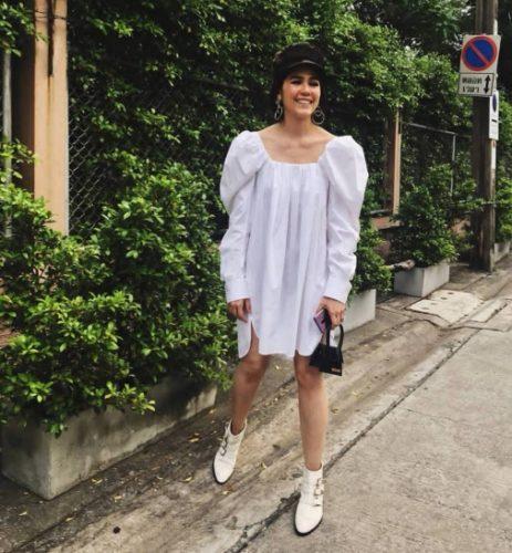 รองเท้าบูธกันฝน White Ankle Boots สาวหวานสายคลีน 1