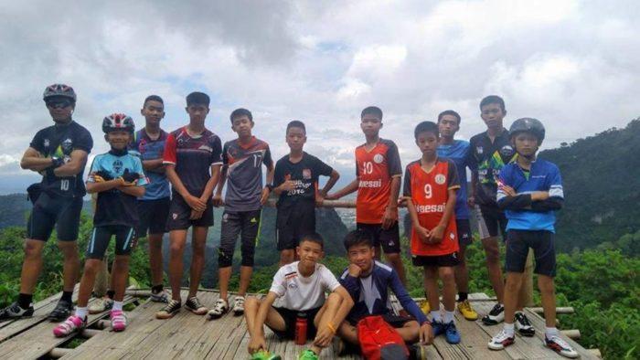 ถ้ำหลวงเชียงราย ทีมนักฟุตบอลเยาวชน