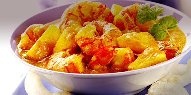เมนูสับปะรด แกงส้มกุ้งสับปะรด (สไตล์ปักษ์ใต้)