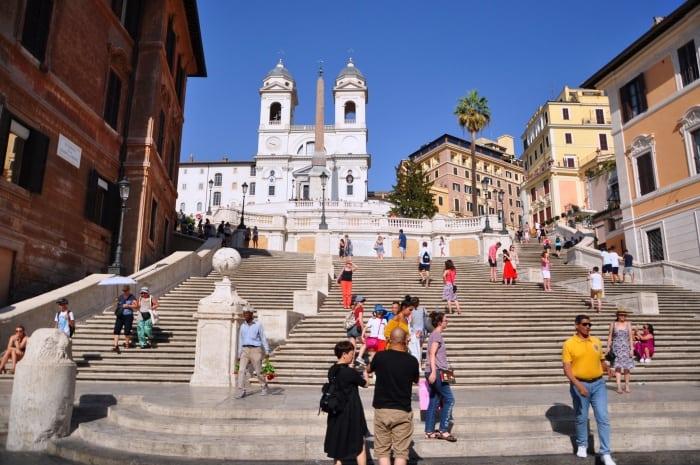 เที่ยวโรม Piazza di Spagna บันไดสเปน