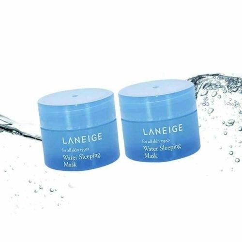 ครีมหน้าเด้งที่ดีที่สุด LANEIGE Water Sleeping Mask เครื่องสำอาง ครีมบำรุงผิวหน้า ของขวัญให้ผู้ใหญ่ ครีมบำรุงหน้า