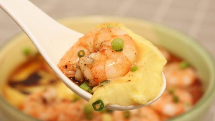 เมนูอร่อย ไข่ตุ๋นกุ้งสด ทำอาหาร สูตรอาหาร เมนูอาหารจานเดียว ทำอาหารง่ายๆ