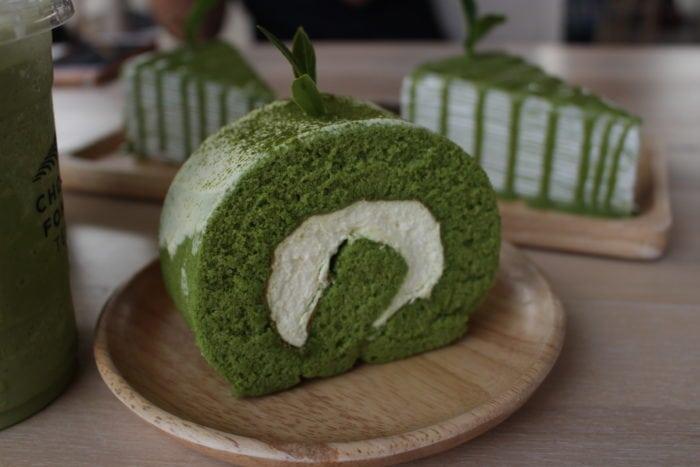 รีวิวเที่ยวเชียงราย เค้กโรลชาเขียว