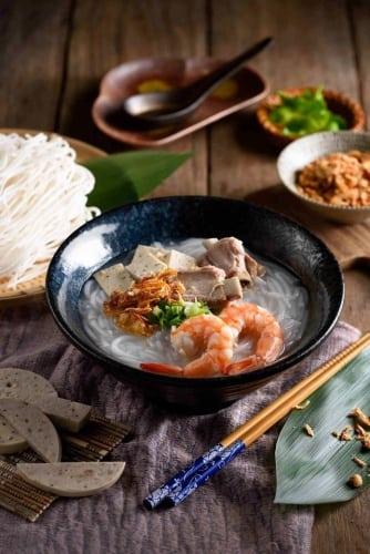 เวียดนาม อาหาร ก๋วยจั๊บญวนกุ้ง